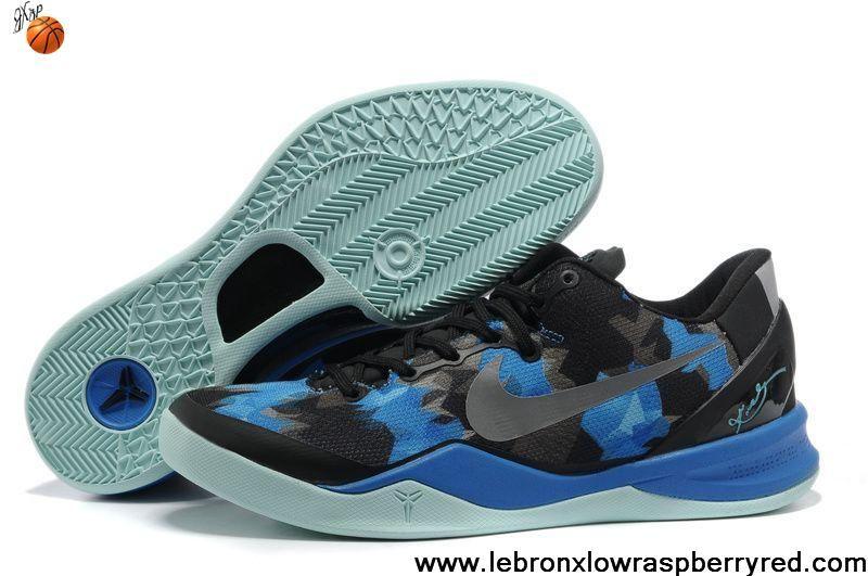 95f27ceef608 New 555035 707 Black Blue Jade Basketball Shoes Style Nike Zoom Kobe 8  (VIII) Shoes Shop