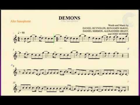Alto Saxophone Demons Imagine Dragons Sheet Music Chords