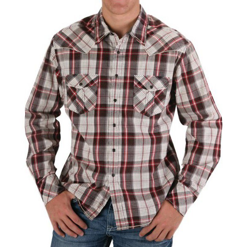 cowboy plaid shirts | / Shirts / Long Sleeve / Rock & Roll Cowboy Crinkle Plaid Snap Shirt ...