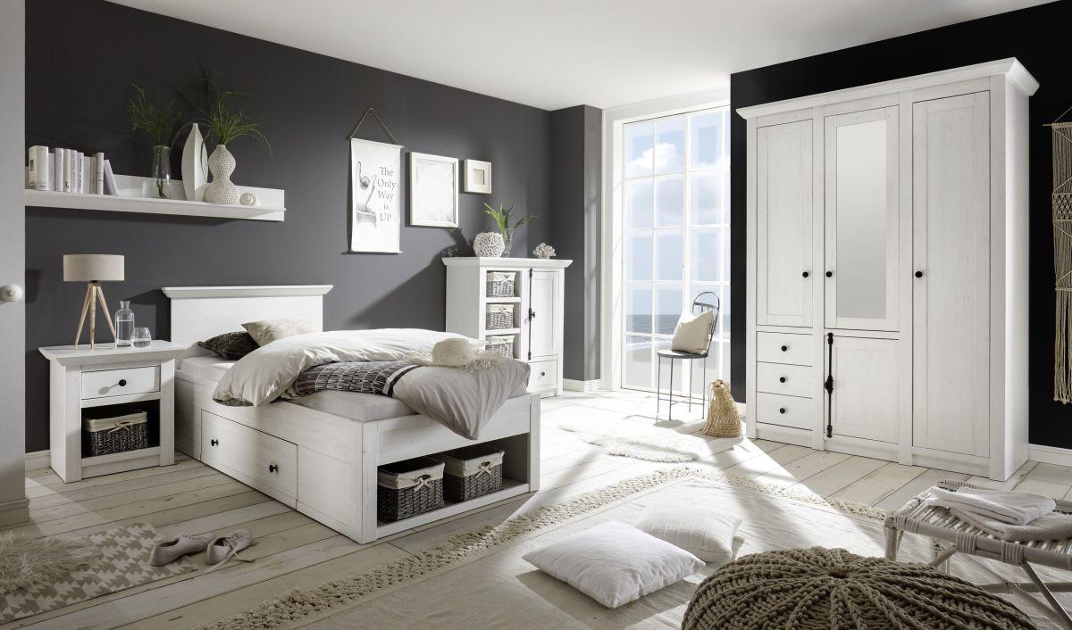 Schlafzimmer Pinie ~ Schlafzimmer mit bett cm pinie weiss imv westerland holz