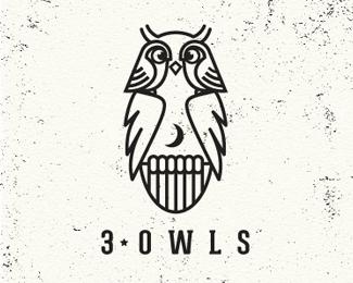 3 Owls #logo #design #brand
