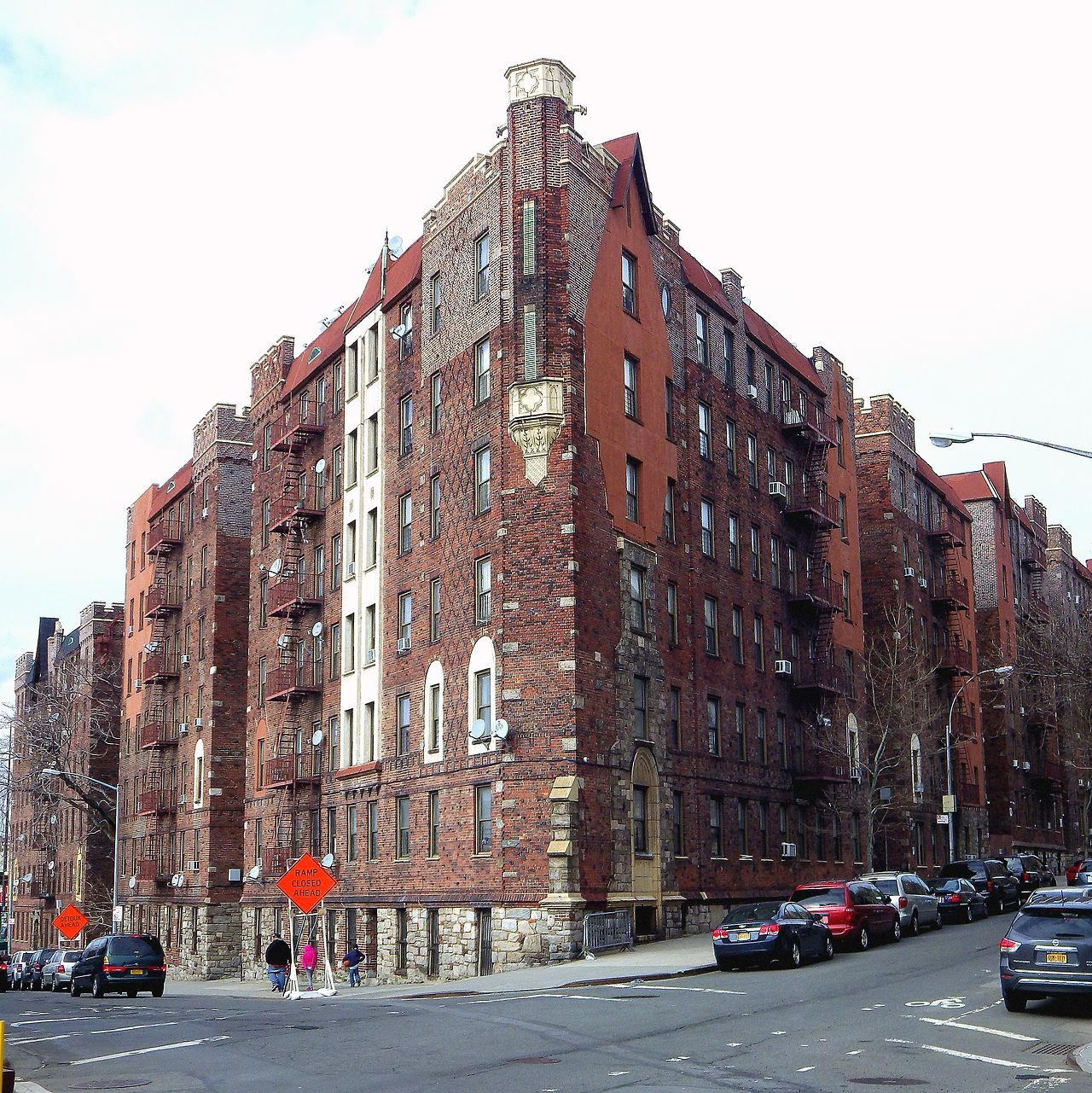 New York City Apartment Streets: An Apartment House In The Grand Concourse Historic