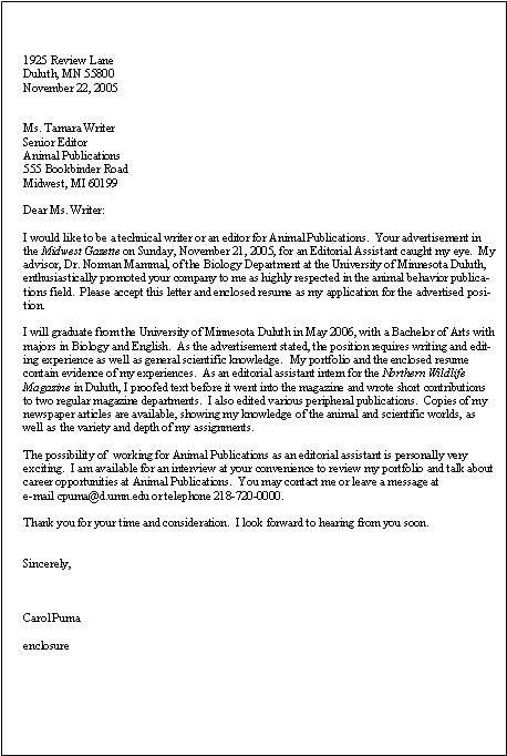 Technical Writer Cover Letter Example Sample Resume Cover Letter Good Cover Letter Examples Resume Cover Letter Examples