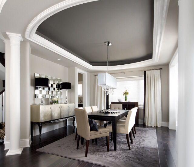 Kendall Dining Room: Walls: BM Barren Plain (2111-60) And Ceiling: BM Kendall