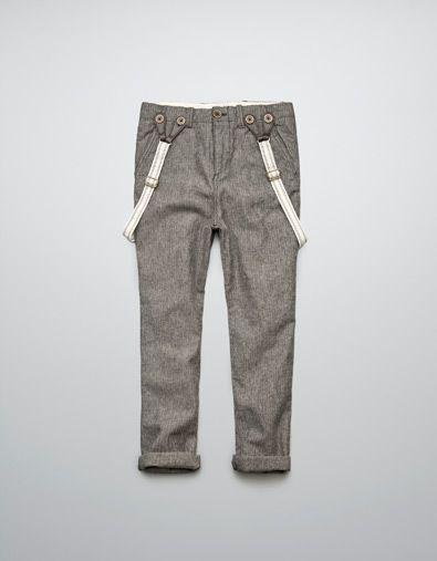 PANTALON À CHEVRONS AVEC BRETELLES - Pantalons - Garçon (2-14 ans) - Enfants - ZARA France