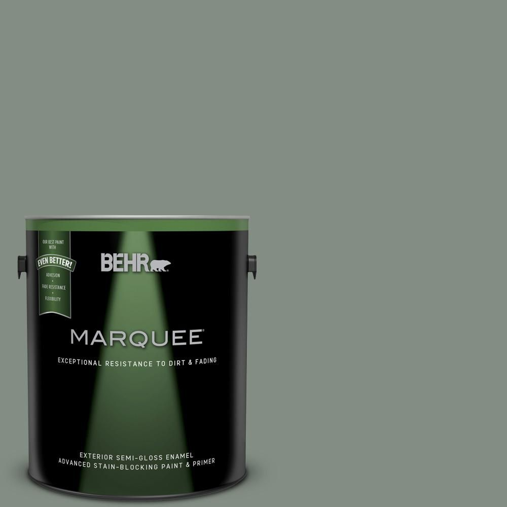 Behr Marquee 1 Gal Ecc 49 3 Forest Moss Semi Gloss Enamel Exterior Paint Primer 545301 The Home Depot In 2020 Behr Marquee Behr Marquee Paint Exterior Paint