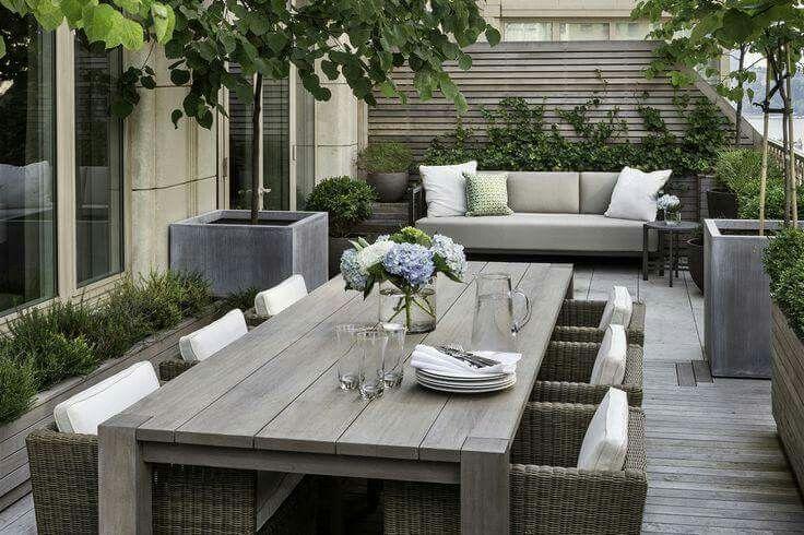 Steigerhout in de tuin Terrazas Pinterest Terrazas, Jardín y