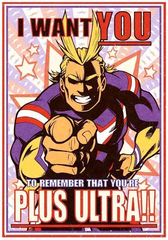 Plus Ultra Ultra Hero Poster My Hero My Hero Academia Manga