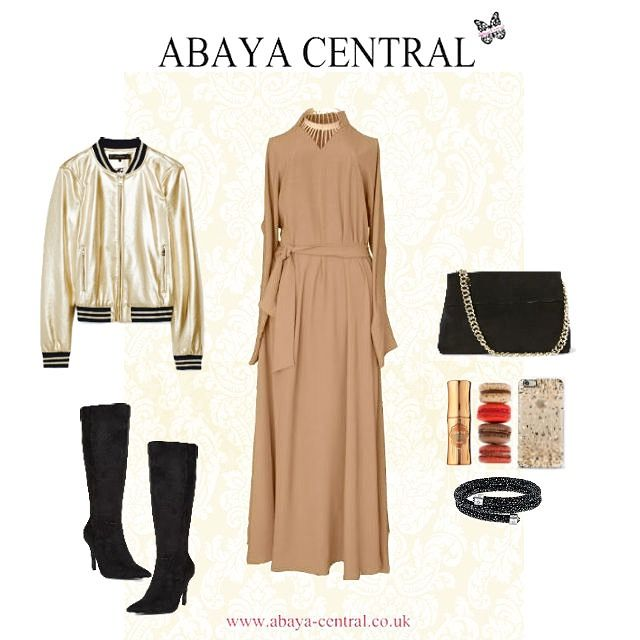 gorgeous caramel abaya knee with our and Style boots length v6yfgbY7