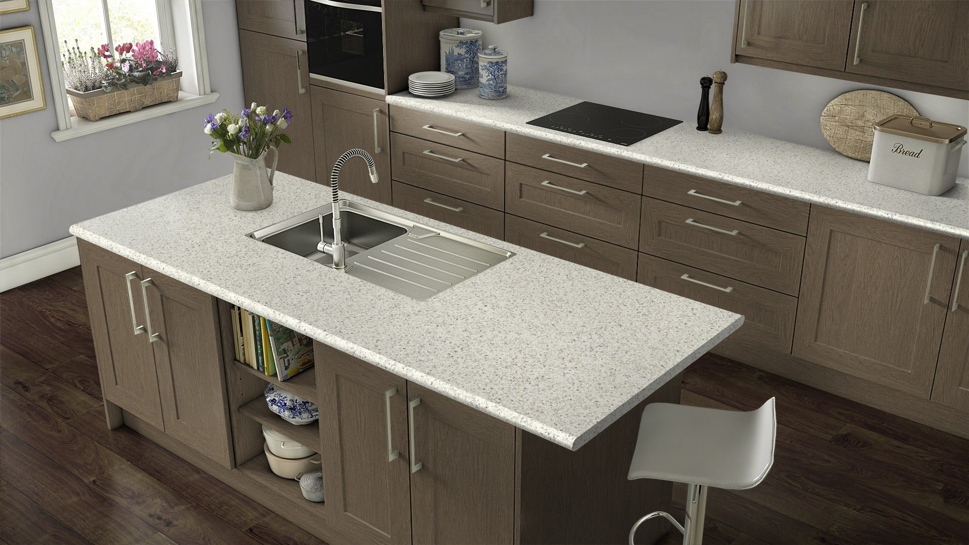 Leche Vesta With The Wood Color Cabinet Get Inspired For Your Kitchen Renovation Wilsonart S Free Visualizer