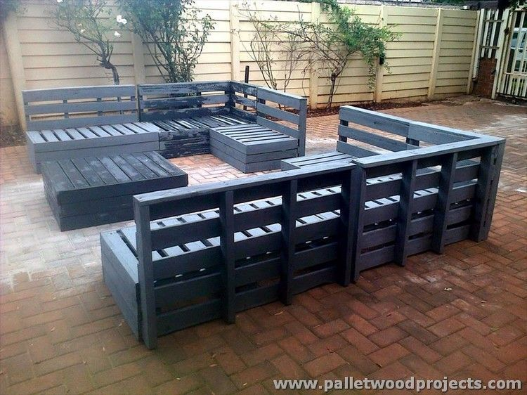 Pallet Outdoor Furniture Plans Gardening Ideas Pinterest