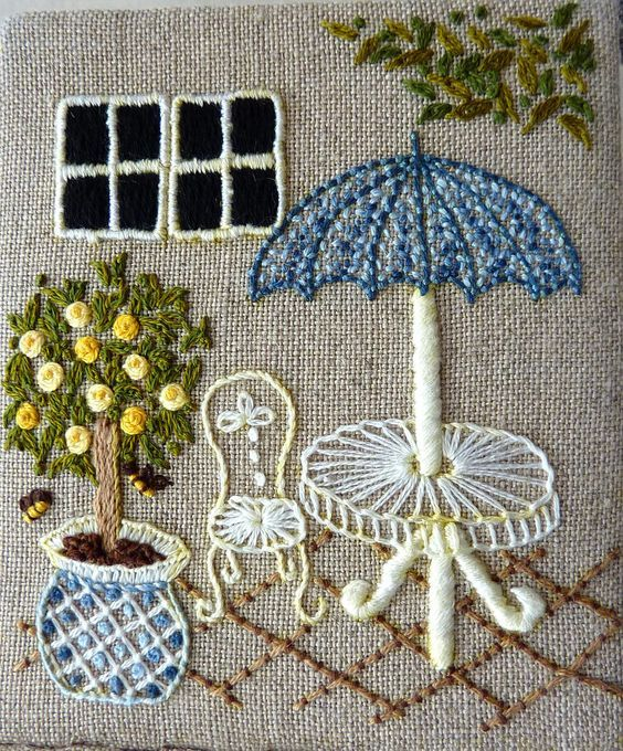 embroidered garden furniture - Embroidery Garden