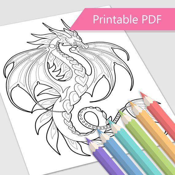 Fire Dragon Coloring Page | Dragon coloring page, Coloring ...