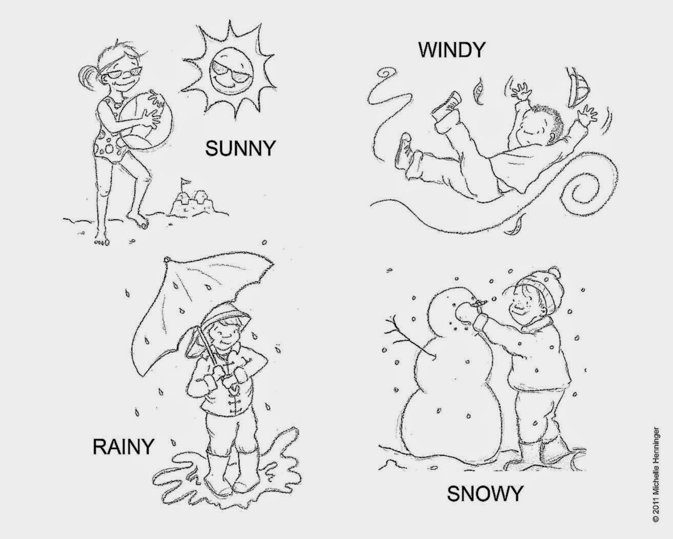 Weather Coloring Sheets