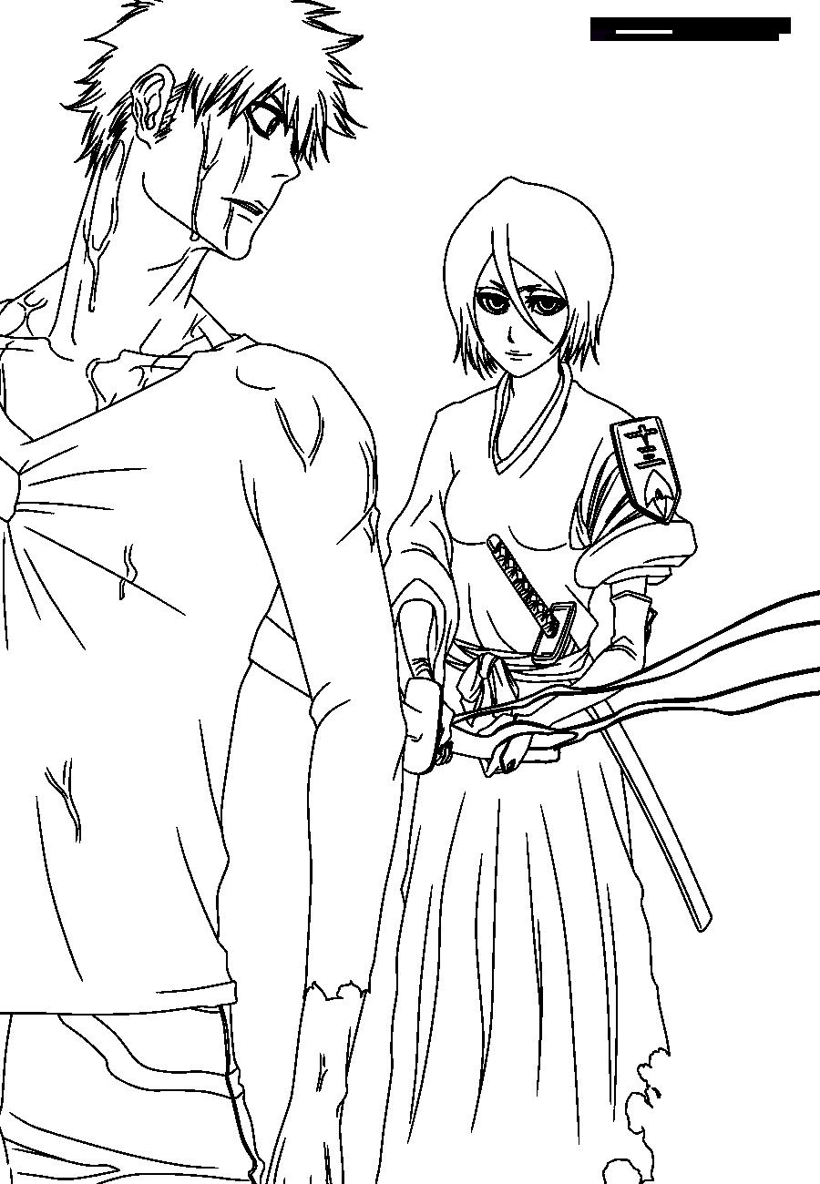Pin On Lineart Bleach [ 1300 x 900 Pixel ]