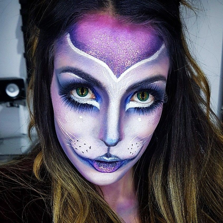 Halloween makeup cat kitty gata gato gatito maquillaje Easy