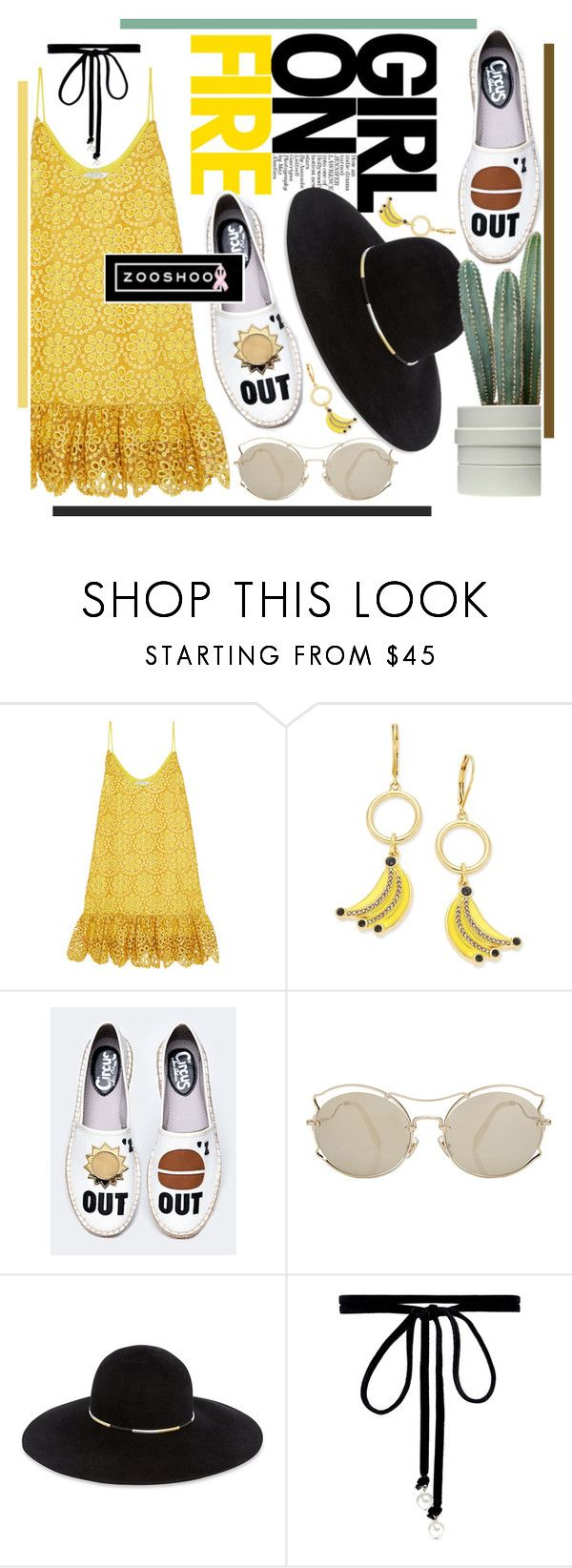 """No 480:Girl On Fire (ZOOSHOO)"" by lovepastel ❤ liked on Polyvore featuring Alexis, Kate Spade, Miu Miu, Eugenia Kim and Joomi Lim"