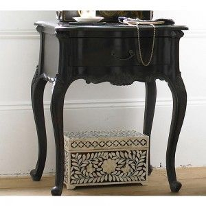 Sy Boo Black Bedside Table