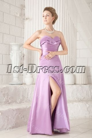 Lilac Slit Graduation Dresses for College  - Graduation Dresses - #College #Dresses #graduation #Lilac #Slit #graduationdresscollege