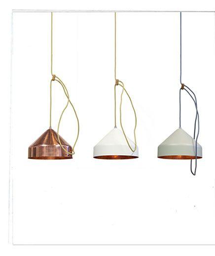 koperen lampen inrichting huis hanglampen pinterest