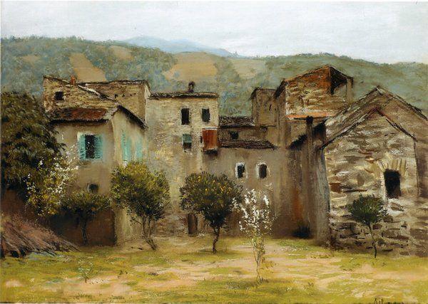 Near Bordighera In Northern Italy Levitan 1890 Pastel On Paper