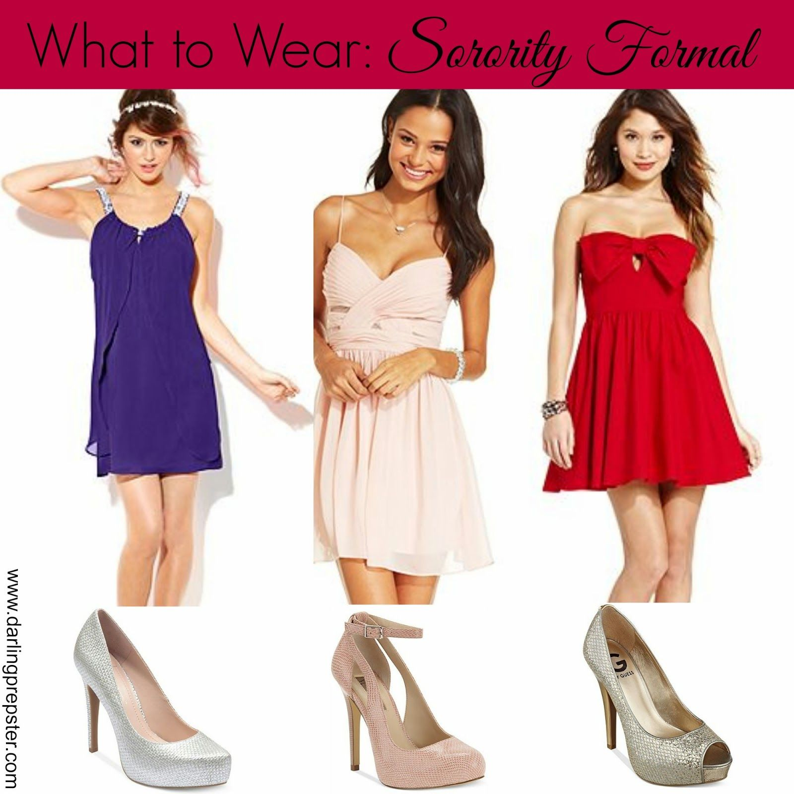 50e50ff887f What to Wear  Sorority Formal