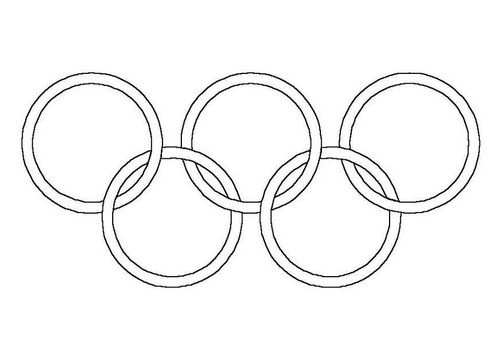 Coloring Page Olympic Rings Olympische Ringe Malvorlagen