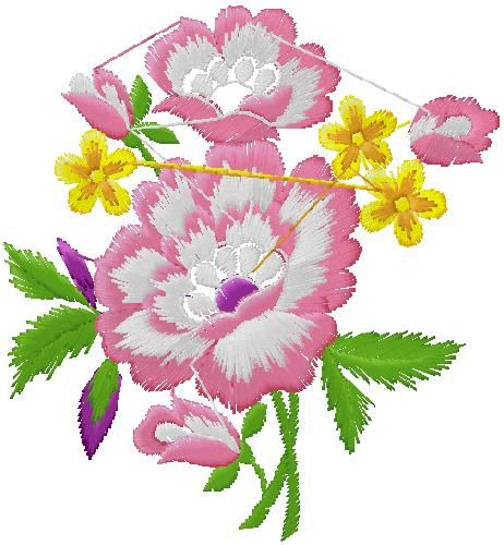 Flowers Embroidery Design824 892 M324 351 Inch5220