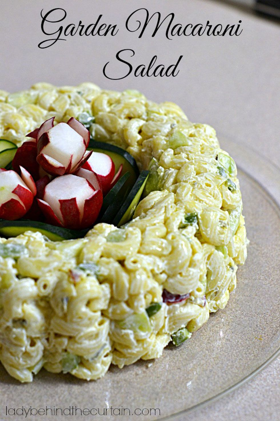 Forgo the typical salad bowl and serve macaroni salad by molding it in a bundt pan.