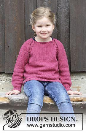 Pull au tricot pour enfant, avec emmanchures raglan et torsades ...