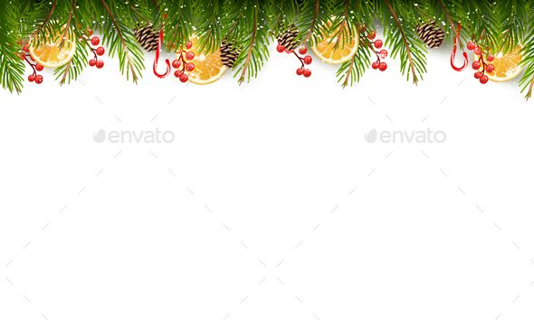 Holiday Background With A Christmas Tree Branches Christmas Tree Branches Holiday Background Christmas Vectors