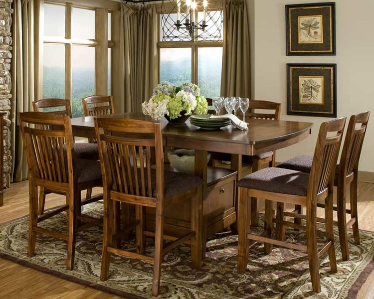 Dining Room Tables With Storage Chicago Furniture For Counter Adorable Height Dining Room Table Design Inspiration