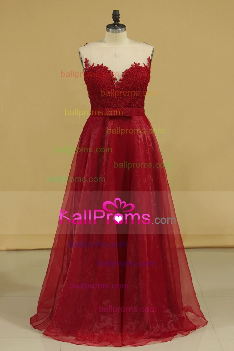 burgundymaroon prom dresses scoop a line with sash and