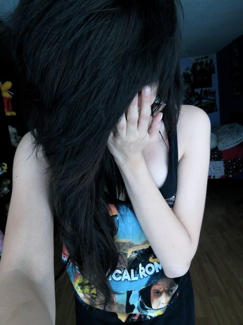 Tumblr scene girls with black hair