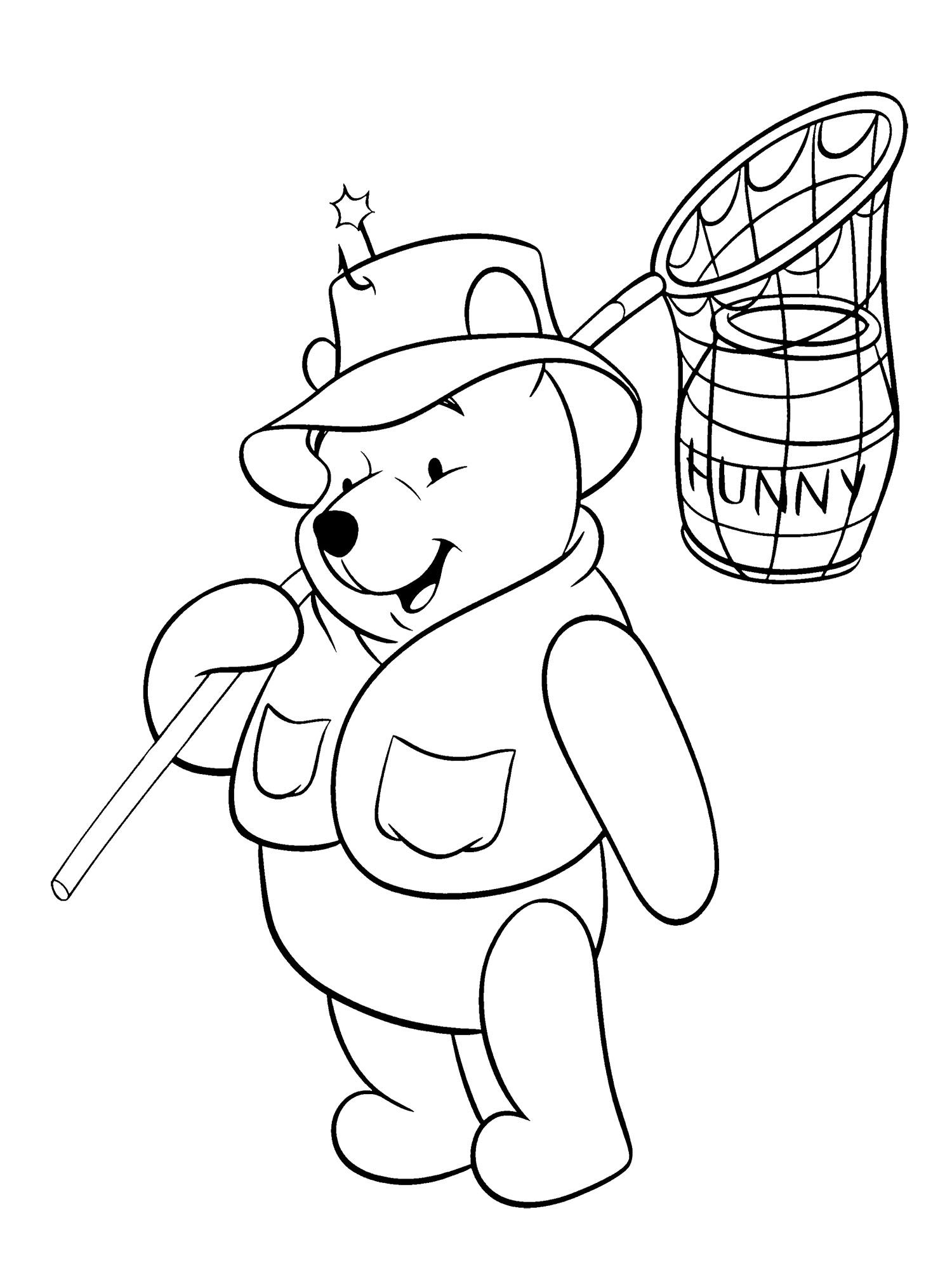 Winnie The Pooh Looking For Food Coloring Page Coloring Pages