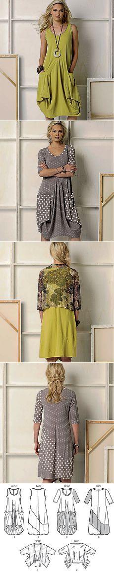 V8975 | Vestido Misses 'y chaqueta | Nuevos patrones de costura | Patrones Vogue