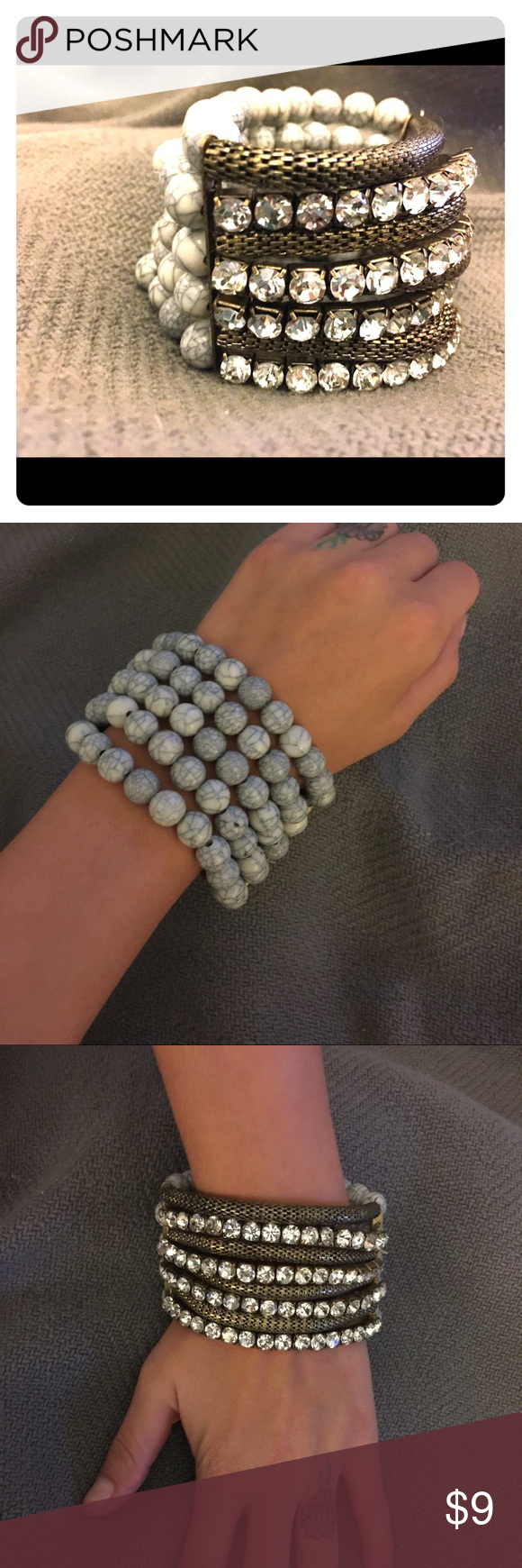 💎Perfect BOHO chic stretchy bracelet💎 This bracelet has very stretchy string that allows any size wrist to fit comfortably! Worn once! Would be the perfect item to spruce up your outfit without being to gaudy!! Mossimo Supply Co. Jewelry Bracelets