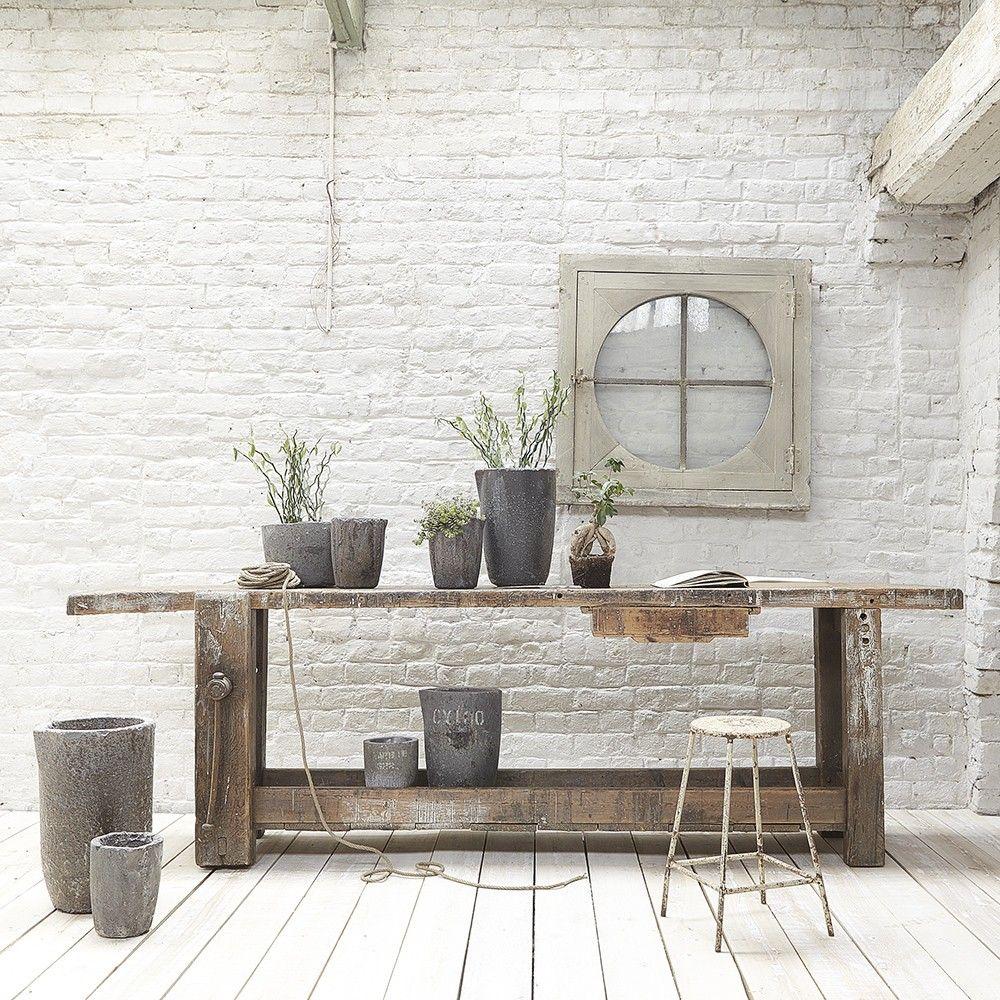 Grand tabli d co meuble deco maison y table - Meuble glaciere bois ...