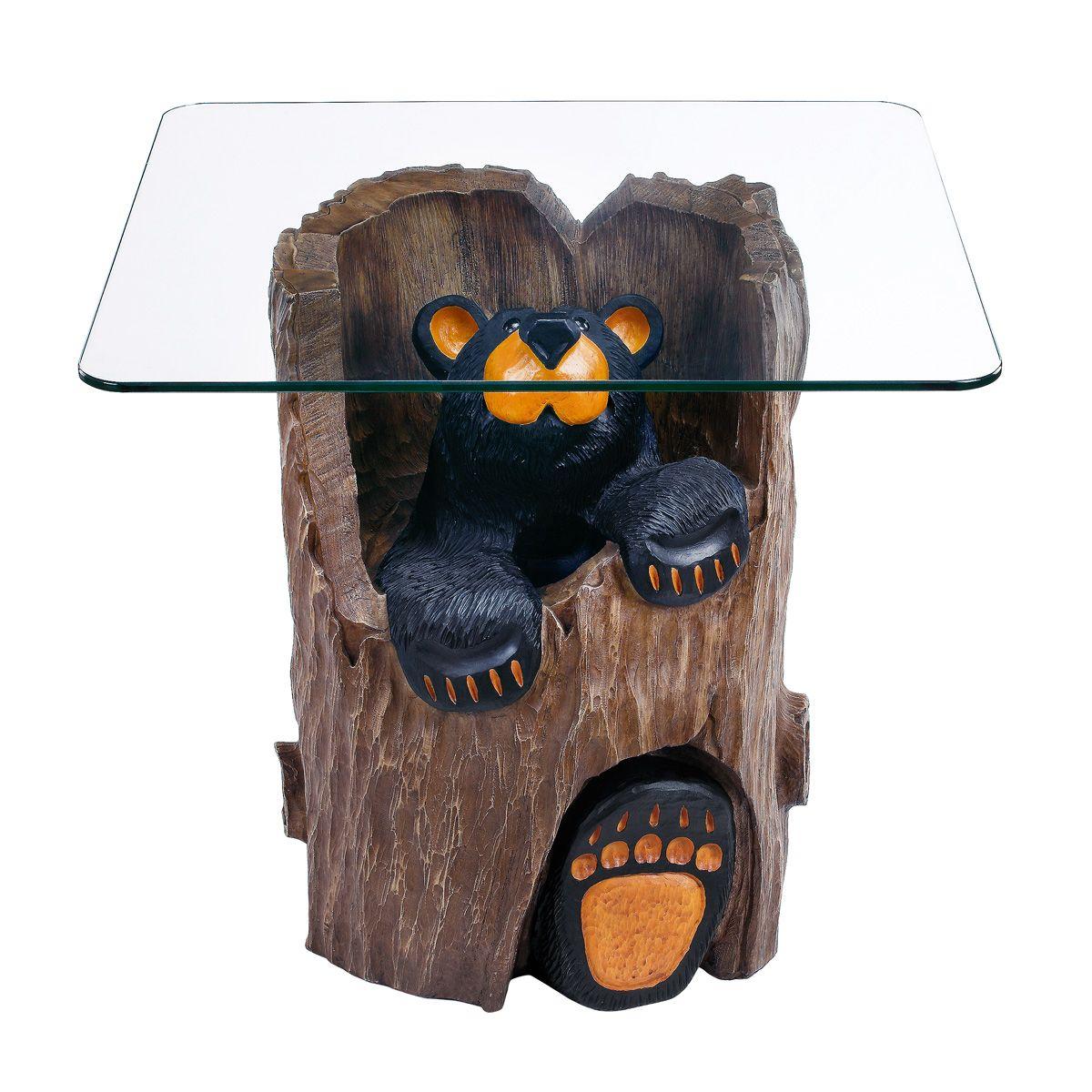 Ruthie Black Bear End Table