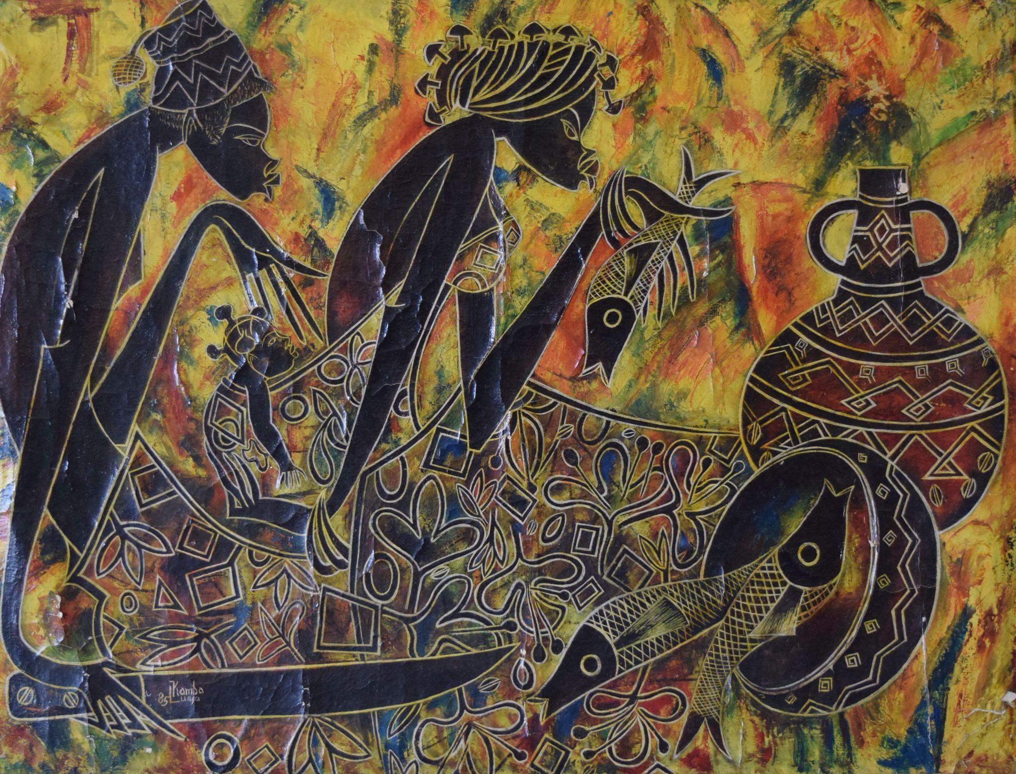 Kamba Luesa 1985. congoart congoartgallery africanart