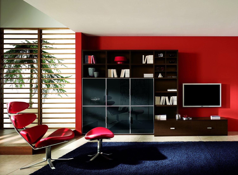 Living Room Decor Red