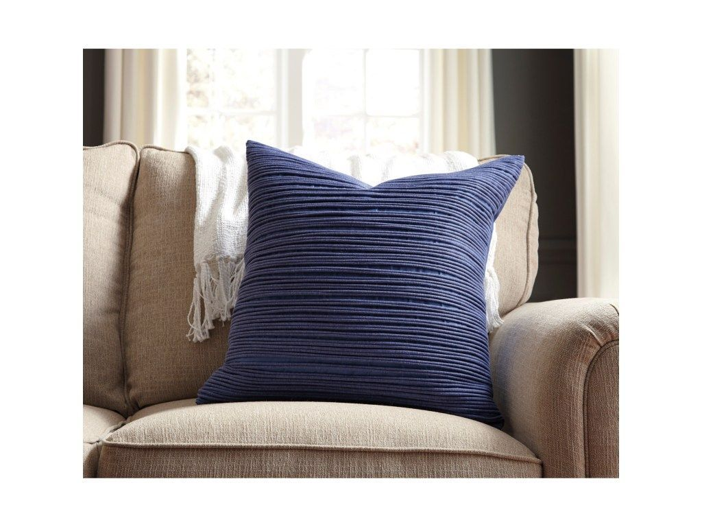 Pillows Lestyn Blue Pillow Cover by Signature Design by
