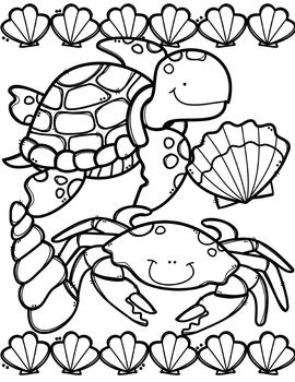 Free Ocean Animals Coloring Book Made By Creative Clips Clipart Animal Coloring Pages Coloring Books Ocean Coloring Pages