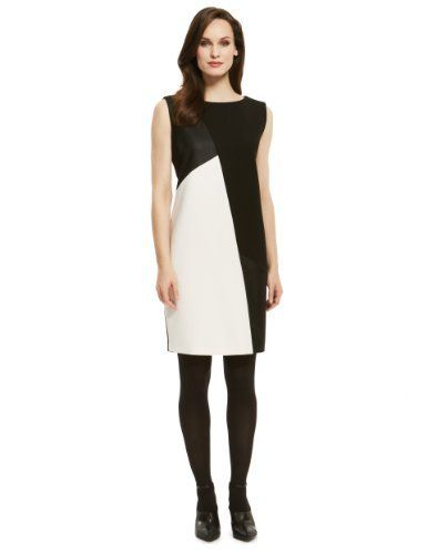 Autograph Asymmetric Colour Block Shift Dress - Marks & Spencer ...