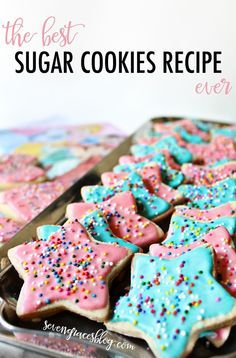 The Best Sugar Cookies Recipe Ever. These are what you use every Christmas and special occasion. They are not too cakey, not too cripsy, and not too sweet. Just right. Best recipe to have on hand!