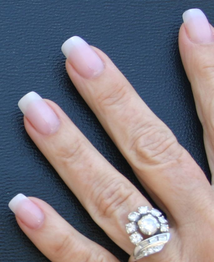 natural looking squoval artificial nails | acrylic nails that look ...