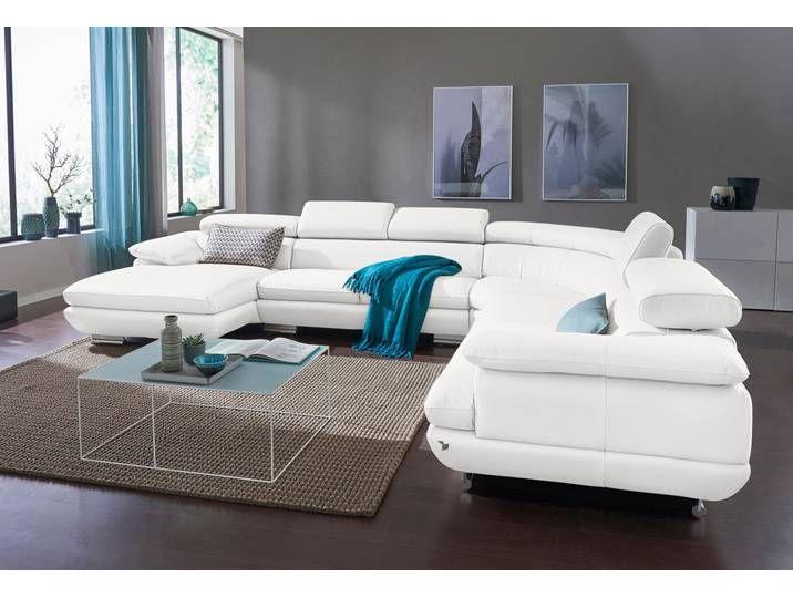 Calia Italia Wohnlandschaft Magic In 2 Lederqualitaten Weiss Leder Home Furniture Home Decor