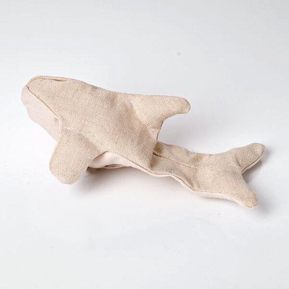 Interactive Dog Toys Hemp Dog Toy: Ollie's Orca, Medium/ Plastic Free Dog Toy