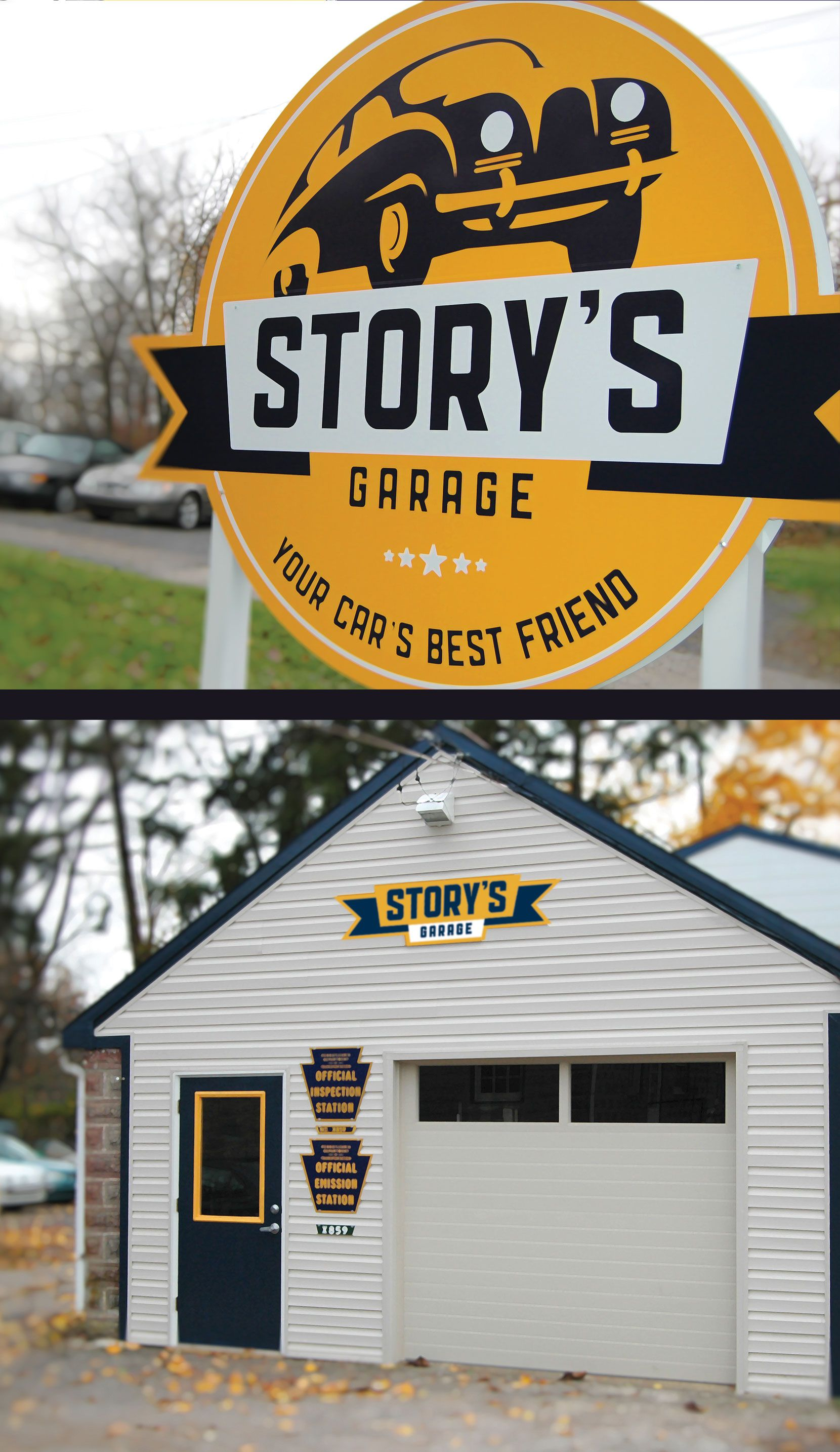 Besides A Full On Branding Campaign That Included A Striking Graphic Identity For A Little Shop Around The Corner From Vf Web Design Agency Branding Fun Signs