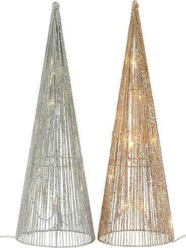 LED Dekoleuchte in Gold und Silber - Mehr Stimmung am Fensterbrett!
